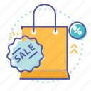 bag, discount, e-commerce, offer, sale, shopping, shopping bag icon