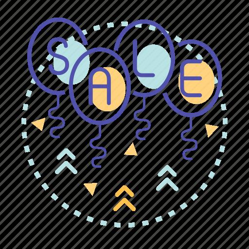 balloon, offer, sale, shop, shopping icon