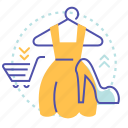 clothes, female, hanger, sale, shop, shopping icon