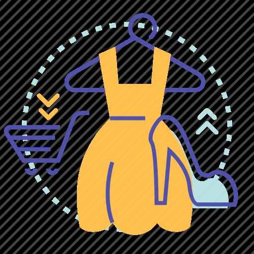 clothes, female, hanger, sale, shop, shopping icon