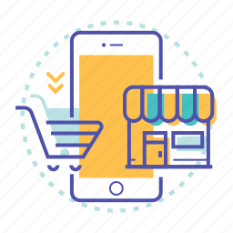 cart, mobile, online, shop, shopping, store icon