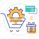 basket, ecommerce, edit, payment, setting, shopping icon