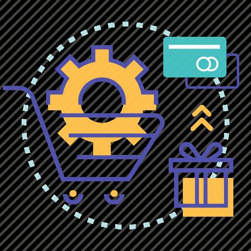 basket, ecommerce, edit, payment, setting, shopping icon
