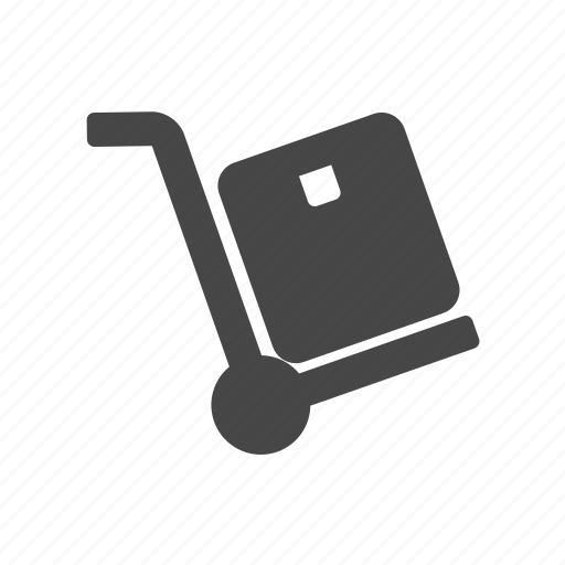 delivery, hand, hand truck, shipping, shopping icon