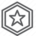 coin, discount, hexagon, retail, sale, shopping, sign, star icon