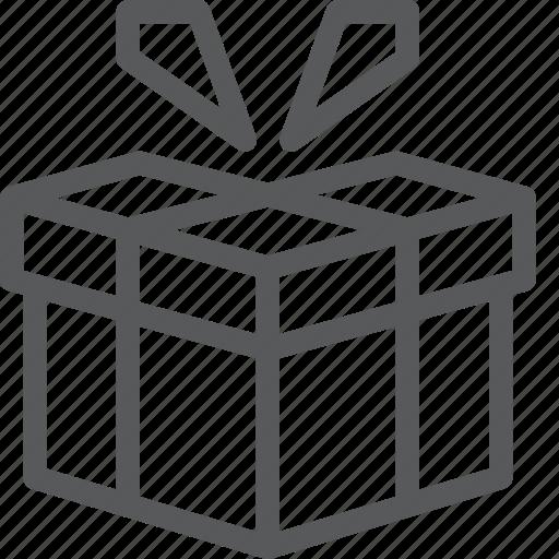 birthday, box, gift, holiday, present, shopping icon