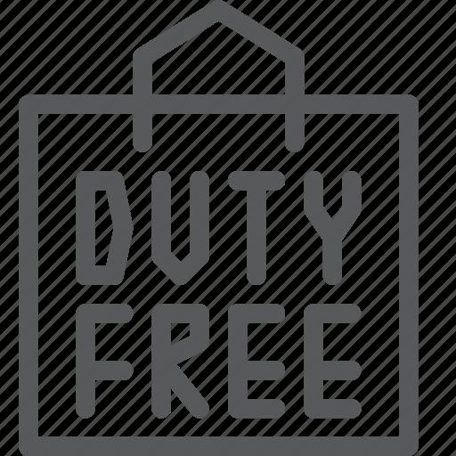 bag, duty, fashion, free, purchase, shop, shopping icon