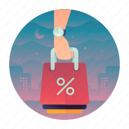 percentage, sale, shop, shopping icon
