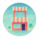 building, location, shop, store icon