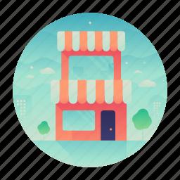 building, location, shop, store icon