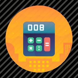 calculate, calculator, shopping icon