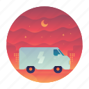 delivery, overnight, transportation, truck, vehicle icon