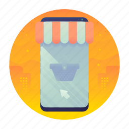 mobile, online, shop, shopping icon