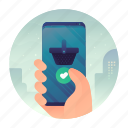 mobile, online, shop, smartphone, store icon