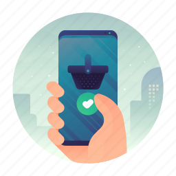 mobile, online, shop, smartphone, store