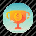 dollar, money, record, trophy