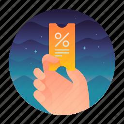coupon, percentage, sale, use icon