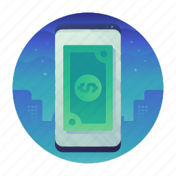 mobile, money, payment, smartphone icon