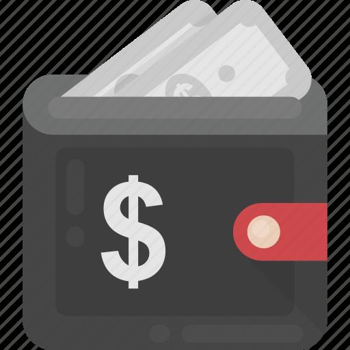 cash wallet, pocketbook, purse, wallet, wallet money icon