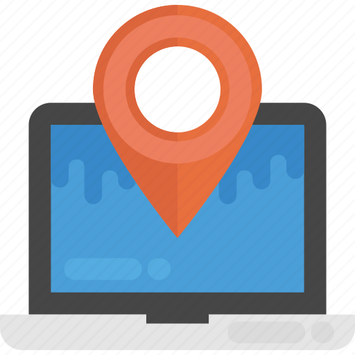gps, location pin, location pointer, online address, online location icon