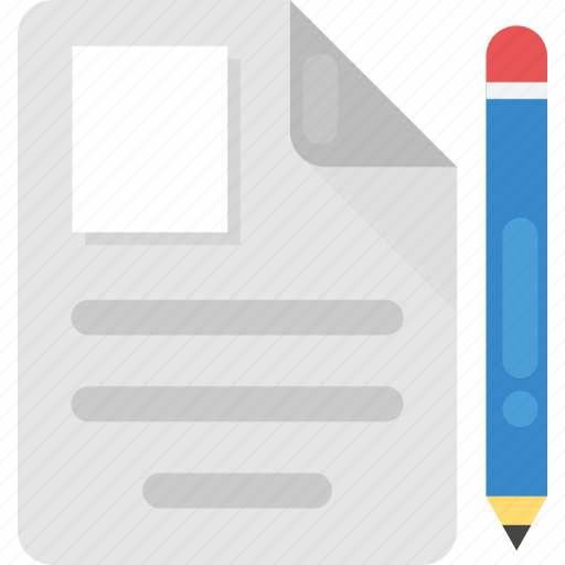 customer account, document and pencil, documentation, form filling, profile document icon