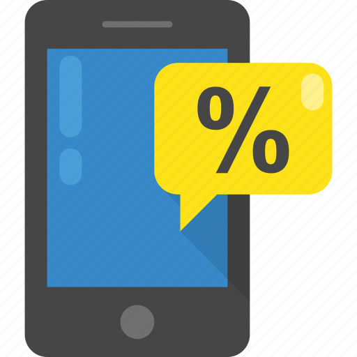 ecommerce, mobile discount, online shopping, percentage, sale icon