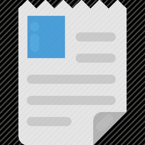 curriculum vitae, cv, document, personal profile, profile icon