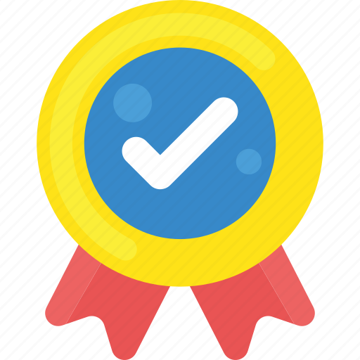 badge, certified, quality check, quality guarantee, seal ribbon, top quality icon
