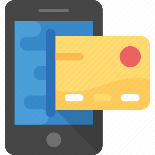 m-commerce, mobile banking, mobile payment, online banking, online shopping icon