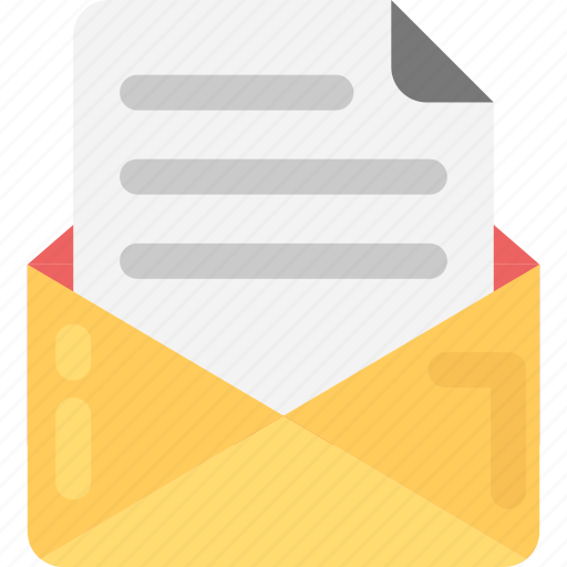 document, email, letter, mail document, policy icon