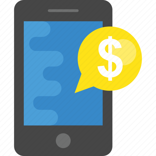 mobile business, mobile finance, mobile payment, online payment icon