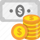 cash, coins, currency, money, savings icon