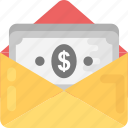 cash, dollar bills, paper money, payment, send money icon