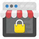 digital shopping, e-commerce protection, internet shopping security, online shopping security, smart shopping icon