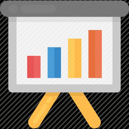business analysis, business analytics, graph presentation, growth chart, statistics icon