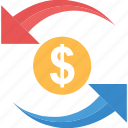 income, money circulation, profit, return, revenue icon