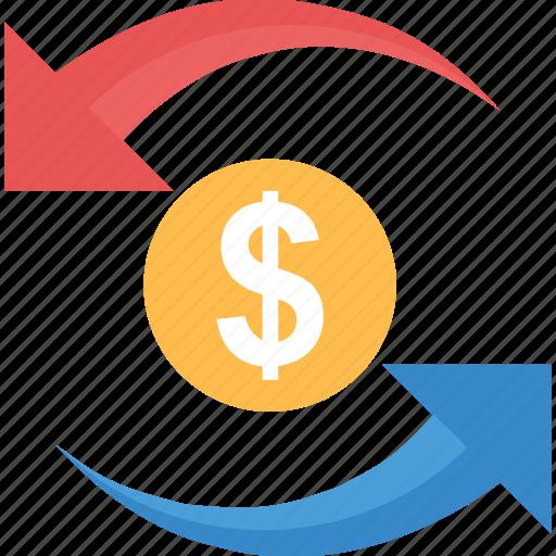 income, money circulation, profit, return, revenue icon