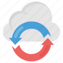 cloud data, cloud processing, data processing, information processing, online data icon