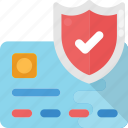 banking protection, credit card security, safe card, safe online payment, transaction security icon