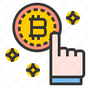 bitcoin, commerce, pay, sale, shopping icon