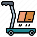 cart, delivery, heavy, trolley icon