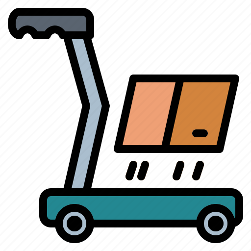 Cart, delivery, heavy, trolley icon - Download on Iconfinder