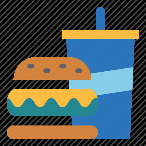 fast, food, hamburger, junk, menu icon