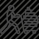 buy, cart, handful, shop, shopaholic, shopping