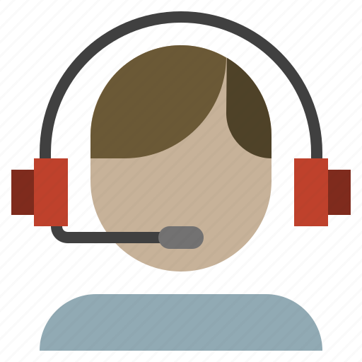 assistance, call, center, delivery, headset, logistics, phone icon