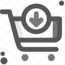 buy, cart, cart in, commerce, payment, shipping, shopping icon