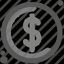 australian dollar, capital, cash, coin, dollar coin, lucre, united states dollar icon