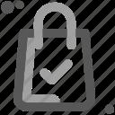 bag, buy, cart, commerce, compras check, shipping, shopping icon