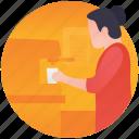 cafe, coffee house, coffee machine, coffee pouring, coffee shop icon