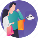 buy clothes, fashion showroom, hat shopping, personal shopper, shopping icon
